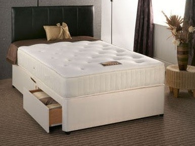 Buckingham 1500 Pocket Sprung 4ft 6in Double Divan Bed in Cream