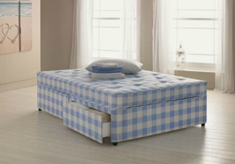 Tiara orthopaedic 4ft small double divan bed for Small double divan bed