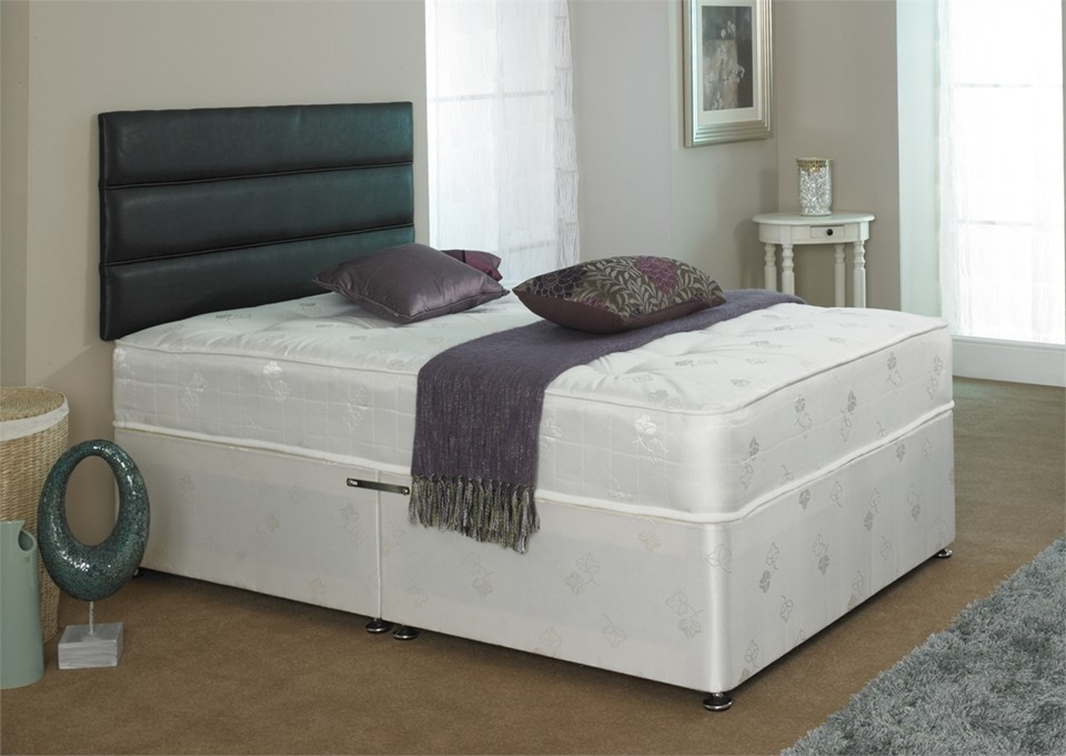 Crystal 1000 pocket sprung 5ft king size zip and link divan bed Zip and link divan beds