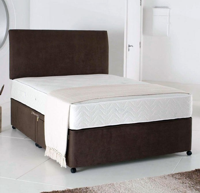 Relax 5ft king size divan bed with memory foam mattress in for Super king size divan bed with storage