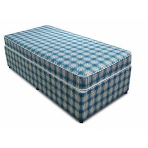 2ft 6in Small Single Bed Base only in Blue Check
