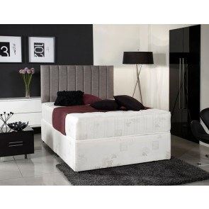 Windsor White 4ft Small Double Divan Bed With Orthopaedic Mattress