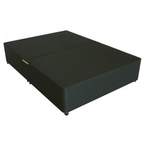 Deluxe 4ft Small Double Divan Bed Base only in Black Damask Fabric