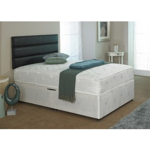 Diamond 4ft 6in Double Divan Bed & Orthopaedic Deep Quilted Mattress