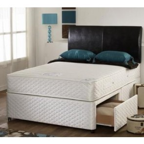 Pearl 4ft Small Double Memory Foam Orthopaedic Divan Bed white