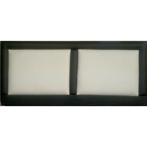 Vienna 4ft Small Double Faux Leather Headboard in Various Colours