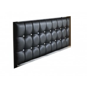 Cherie Floor Standing 6ft Super King Size Faux Leather Headboard 46in Tall