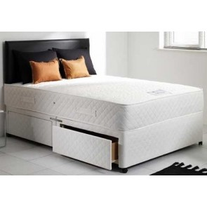 Mayfair White 4ft Double Memory Foam Orthopaedic Sprung Divan Bed