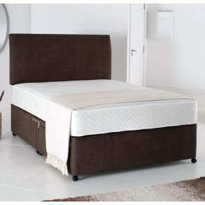 Relax 6ft Super King Size Divan Bed with Memory Foam Mattress in Brown