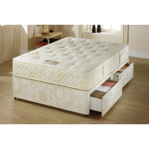 6ft super king size zip and link beds with coil sprung mattress Zip and link divan beds