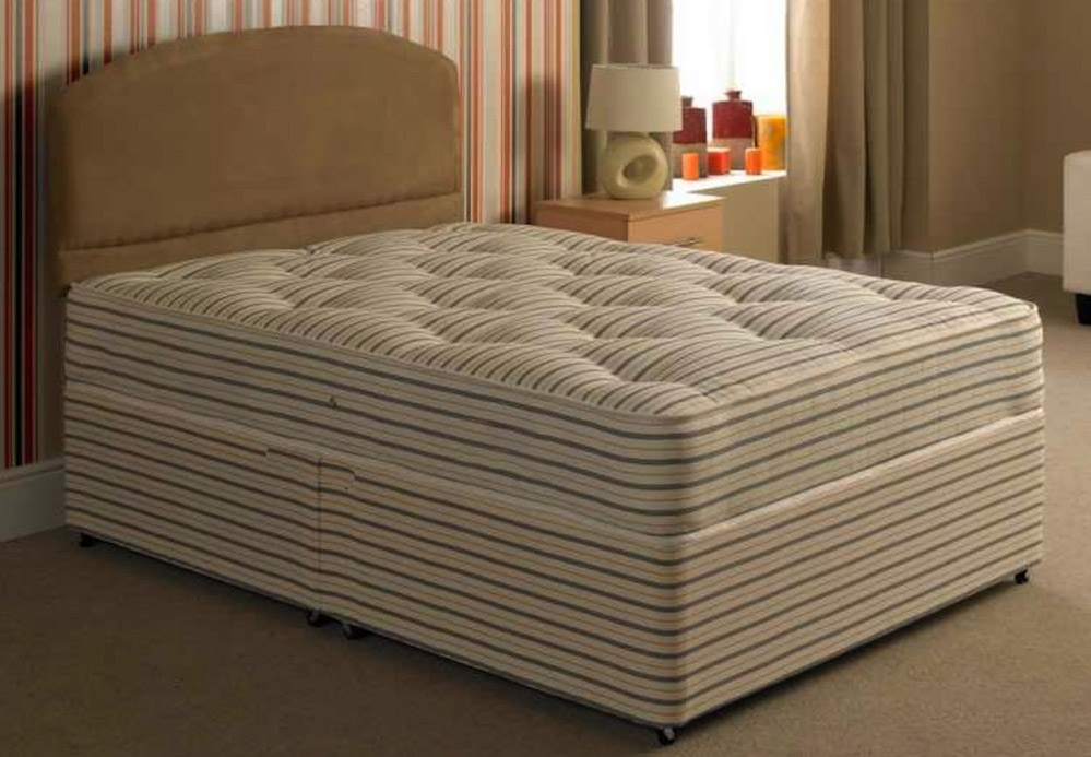 Buy cheap sprung divan bed compare beds prices for best for Cheap king size divan