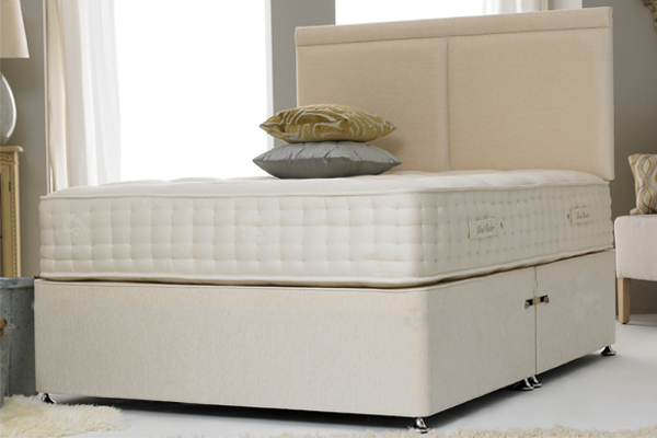 Premium Contract Cotton Cream 4ft 6in Double Divan Bed Base Only