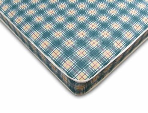Budget 2ft 6in Small Single Mattress in Blue Check