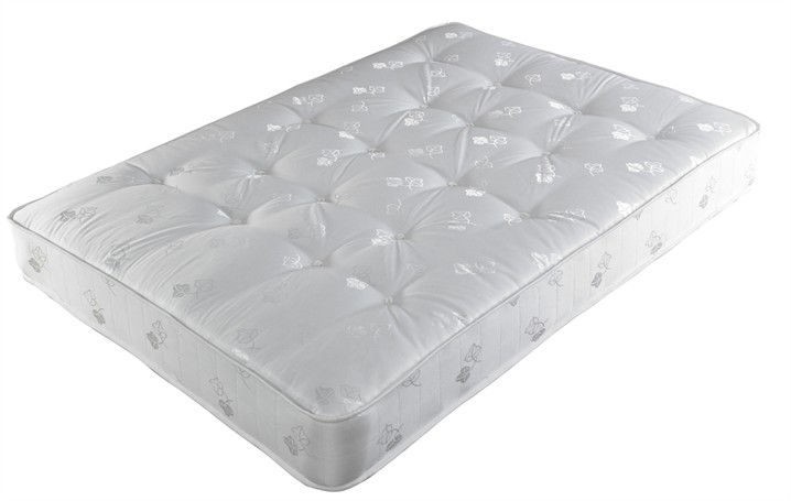 Crystal 6ft Zip and Link 1000 Pocket Sprung Mattress in Cream