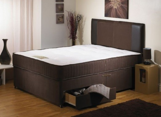 Rosedale Brown 4ft Double 1000 Pocket Sprung Memory Foam Mattress