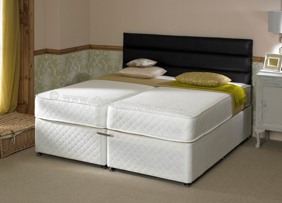 Savoy 6ft Zip Link Bed With 1000 Pocket Sprung Memory Foam Mattress: zip and link divan beds