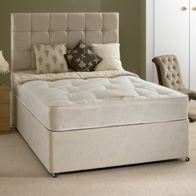 Rio 4ft 6in double divan bed with orthopaedic mattress for 4ft double divan bed