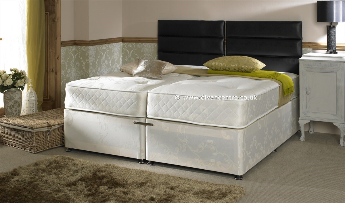Serene Hotel Contract 1500 Pocket 5ft King Size Zip Link Divan Bed