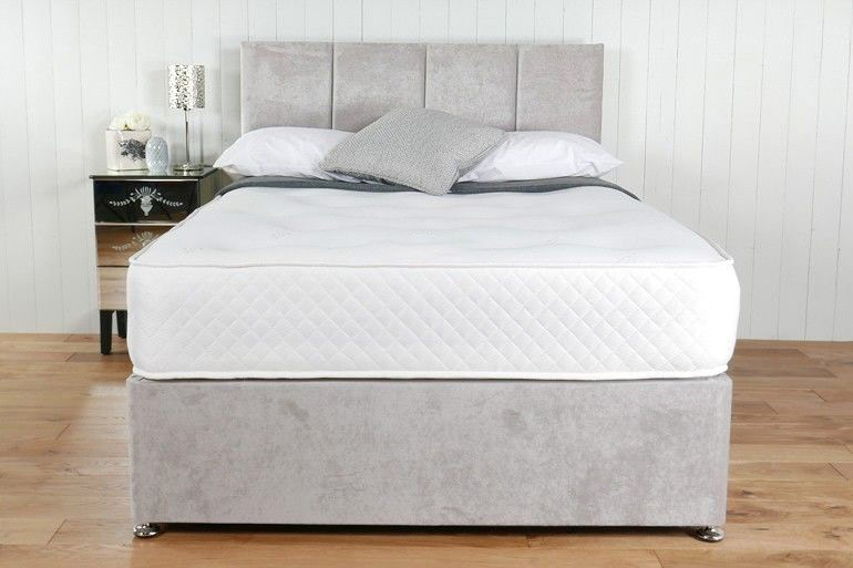 Victoria 1500 pocket spring 2ft 6in small single mattress for Single divan beds with mattress and headboard