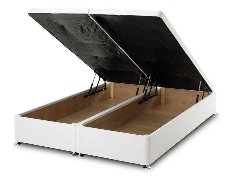 Regent white 4ft 6in double ottoman storage divan bed base for 3ft divan bed with storage