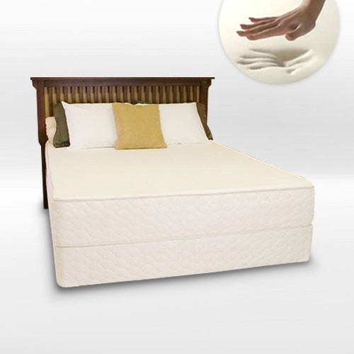 Serenity Memory Foam 4ft Small Double Divan Bed in White