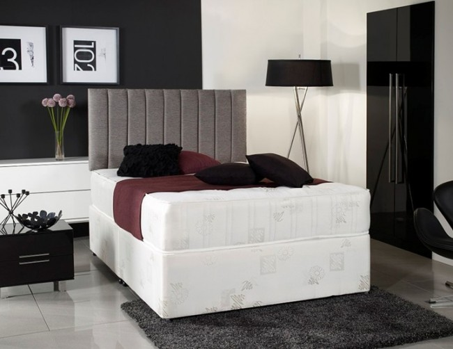 Windsor 4ft 6in double divan bed with orthopaedic mattress for 4ft double divan bed