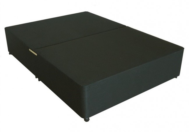 Deluxe 5ft King Size Divan Bed Base in Black Damask Fabric