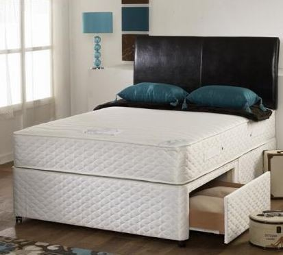 Pearl 2ft 6in Small Single Memory Foam Orthopaedic Divan Bed white