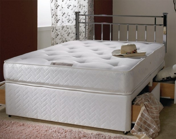 Victoria White 6ft Super King Size 1500 Pocket Sprung Divan Bed