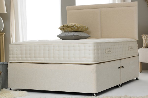 Premium Contract Cotton Cream 5ft King Size Divan Bed Base only
