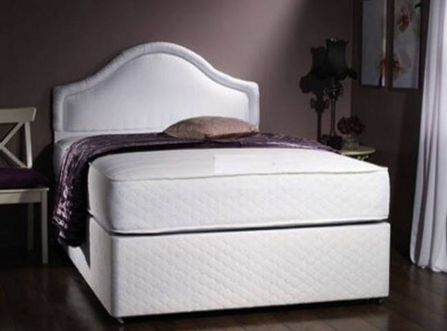 Milan 6ft zip link bed memory foam with 1500 pocket for Memory foam double divan bed sale