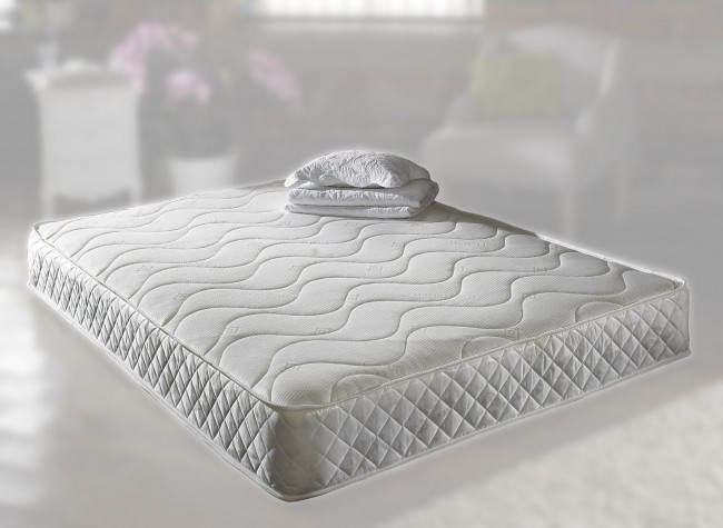 4ft 6in double pearl memory foam mattress in white 25cm deep for Memory foam double divan bed sale
