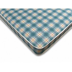Budget 3ft Single Mattress in Blue Check