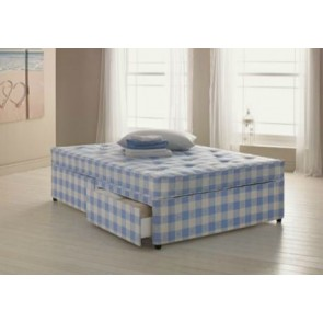 Tiara 4ft 6in Double Divan Bed Inc Orthopaedic Mattress & Headboard