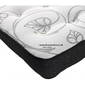 Fusion 4ft Double 1500 Memory Foam Pocket Sprung Mattress in Black