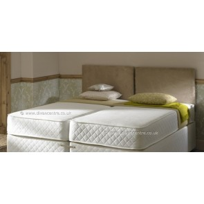 White Milan 6ft Zip and Link Memory Foam 1500 Pocket Sprung Mattress
