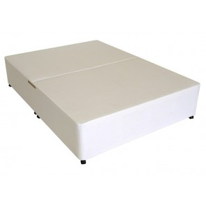 Deluxe 4ft Small Double Divan Bed Base only in White Damask Fabric
