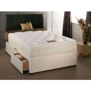 Buckingham 1500 Pocket Sprung 2ft 6in Small Single Divan Bed in Cream