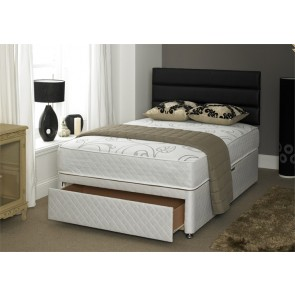 4ft small double beds with pocket sprung and memory foam for Small double divan bed with headboard