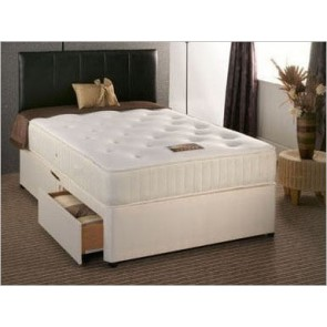 Buckingham 2000 Pocket Sprung 5ft King Size Divan Bed in Cream