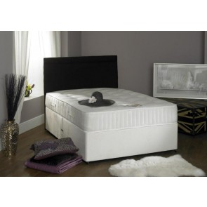 Crystal 4ft 6in Double Divan Bed Inc 1000 Pocket Sprung Mattress & Headboard