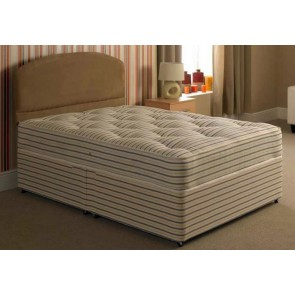 Hotel Contract 1000 Pocket Sprung 4ft 6in Double Divan Bed Inc Headboard