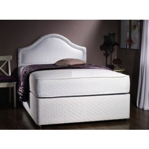 Milan 6ft Zip & Link 1500 Pocket Memory Foam Divan Bed in White