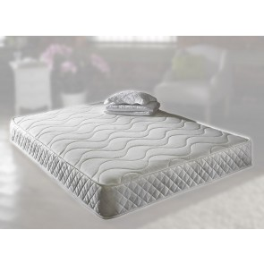 Pearl 2ft 6in Small Single Memory Foam Mattress in White