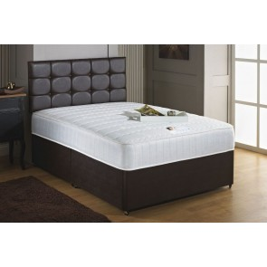 Savoy 2ft 6in Small Single 1000 Pocket Sprung Memory Foam Divan Bed with Headboard