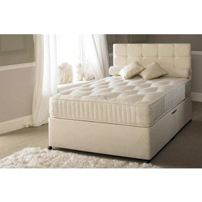 Serene Hotel Contract 1500 Pocket Sprung 4ft 6in Double Divan Bed Inc Headboard