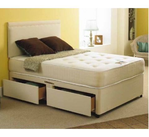 Bali 4ft Double Divan Bed with Orthopaedic Mattress