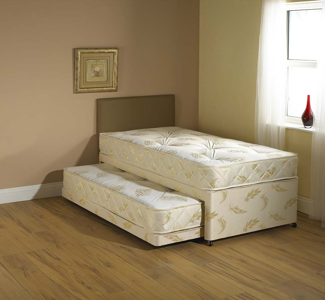 Windsor Cream 3 in 1 Guest Bed pull out trundle with Mattresses