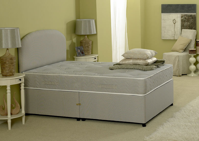 Premiere Contract 5ft King Size Divan Bed Inc Mattress & Headboard